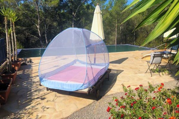 Single Pod Cocoon Used Outdoors