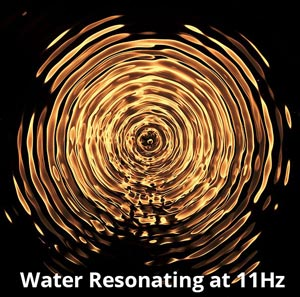Elemental Resonance of Water at an 11Hz Frequency