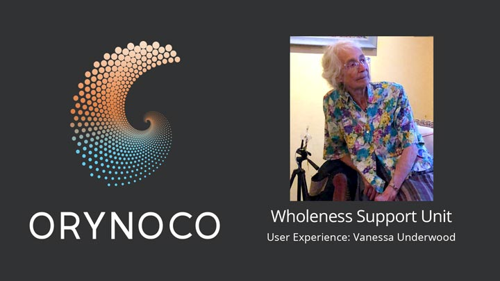 User Experience Video with the Wholeness Support Unit by Vanessa Underwood