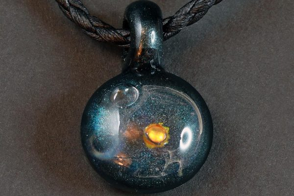 Life Force Jewellery Necklace Pendant w/ Leather Cord- Design 01