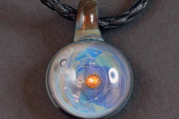 Life Force Jewellery Necklace Pendant w/ Leather Cord- Design 03
