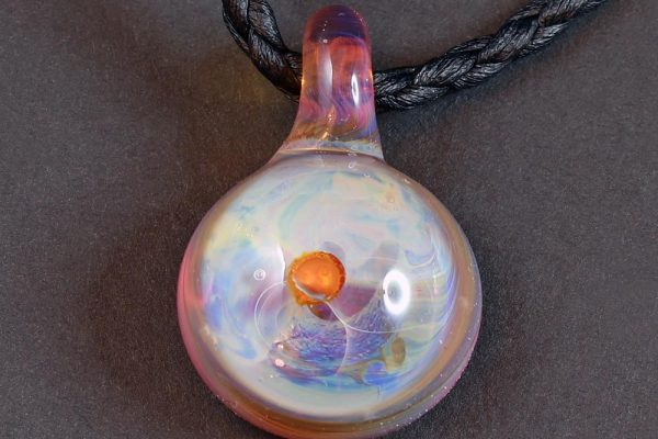 Life Force Jewellery Necklace Pendant w/ Leather Cord- Design 04