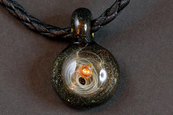 Life Force Jewellery Necklace Pendant w/ Leather Cord- Design 09