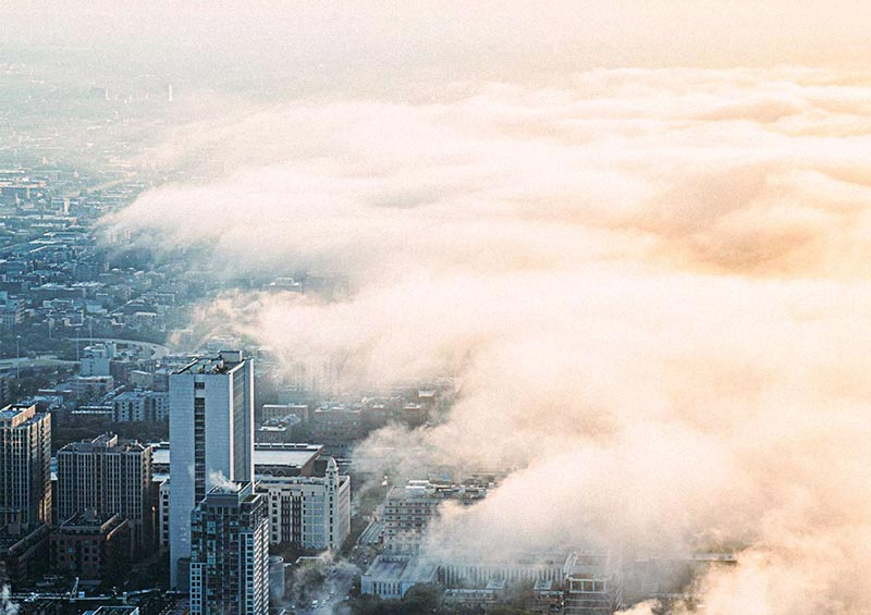 Transition of Clouds into City is Symbolic of Our Consciousness Transition