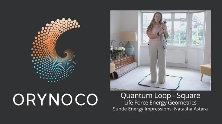 User Experience Video about Life Force Energy Quantum Loop in Square Geometric by Natasha Astara - Clairvoyant and Acupuncturist