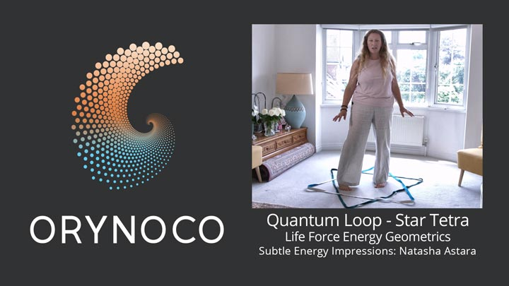 User Experience Video about Life Force Energy Quantum Loops in Star Tetrahedron Geometric by Natasha Astara - Clairvoyant and Acupuncturist
