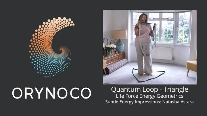 User Experience Video about Life Force Energy Quantum Loop in Triangle Geometric by Natasha Astara - Clairvoyant and Acupuncturist